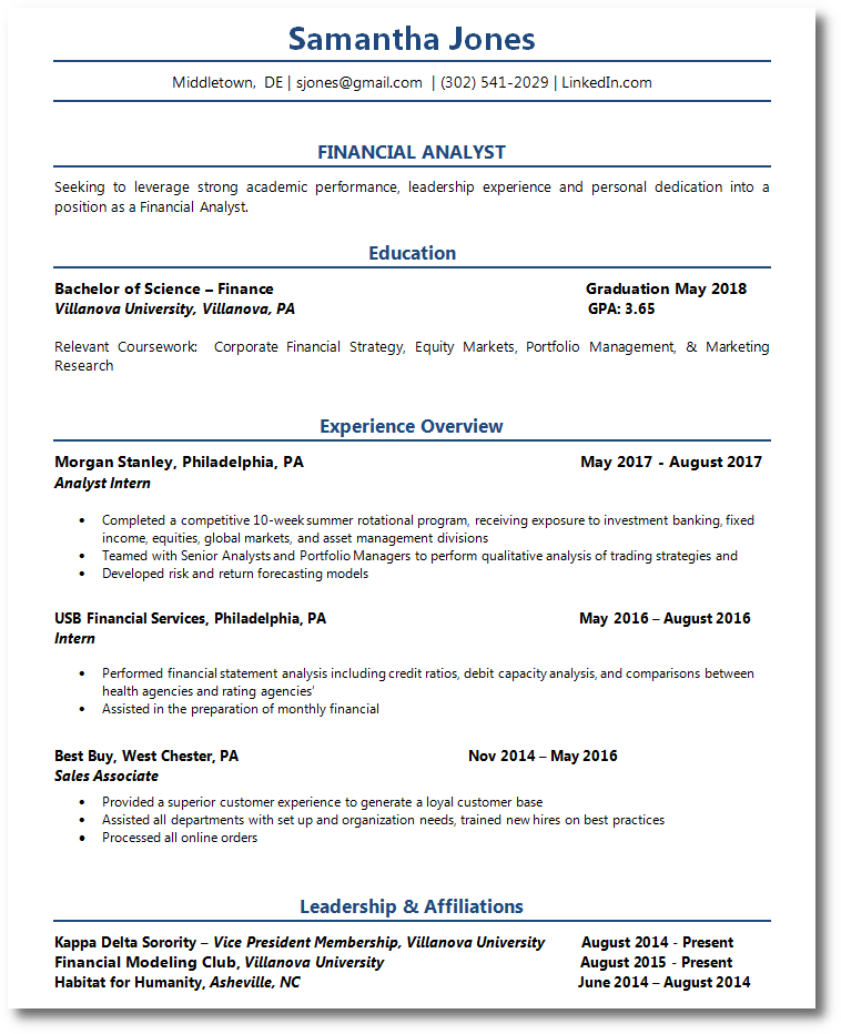 Student Resume-Example