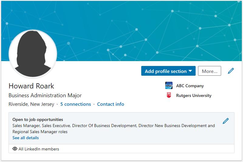 Default LinkedIn Profile Background Image